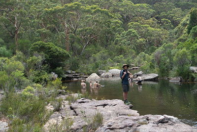 We meet up with Alex near the junction with Kangaroo Creek