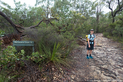 Rachel at the start of the Smugglers Ridge Track