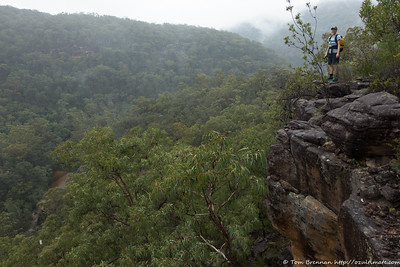 Rachel at a lookout above Marramarra Creek