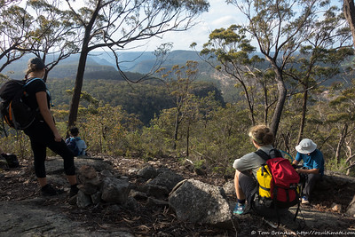 Rest break on Mt Waratah