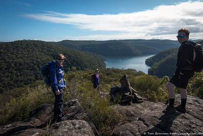 Enjoying the views (distanced!) and being out and about in the bush - Margot, Rachel, Jon