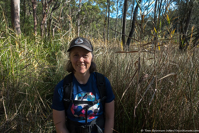 Wading through the marsh on the banks of Smiths Creek looking for a place to cross