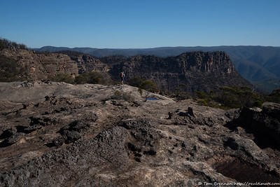 Rachel on the edge overlooking Bonnum Pic