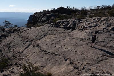 Walking rock platforms near the cliff edge