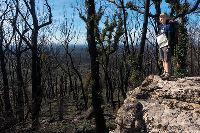 Rachel above the Moore Creek plains