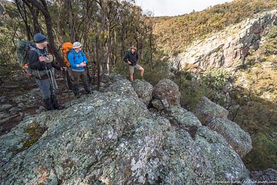 The walk follows the cliff edge