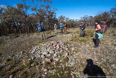 An aboriginal stone cairn