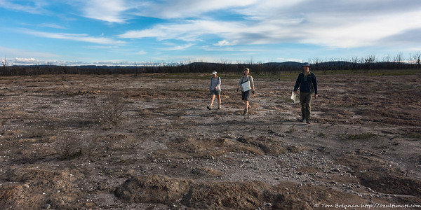 The top of the plateau looks like a wasteland