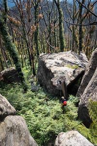 Descent off Mt Haystack