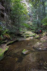 Rock hopping in Mill Creek
