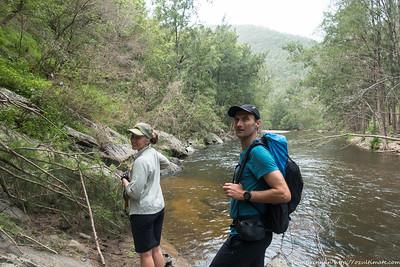 Rachel and John on the way to Merrigal Creek