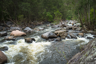 Rachel in the river