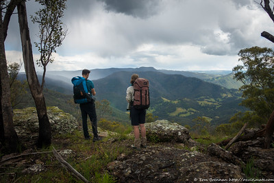 Passing showers from the top of the mountain