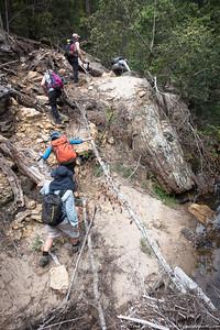 Rough terrain in Kanuka Brook