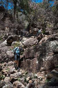 Jo and Lauren below the steep bit