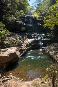 The waterfall in Pinchgut Creek