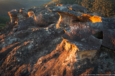 Morning light on the rocks