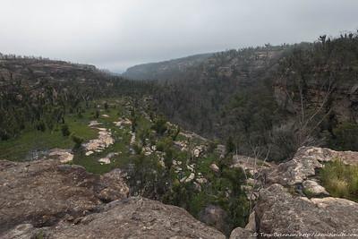 View down Bainbrig Creek