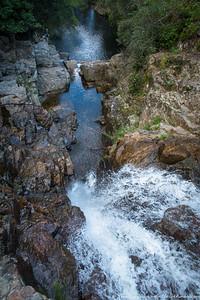 Rachel below the falls