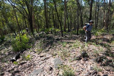 Gillian on the open ridge