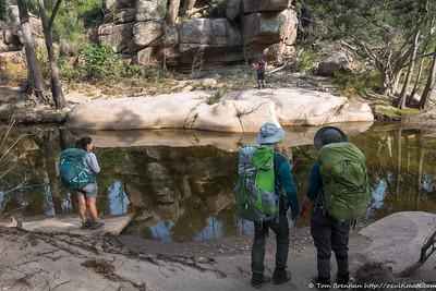 Bundundah Creek is now filled with granite slabs and boulders