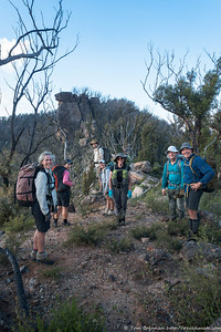 The party on the narrow ridge - Rachel, Lauren, Alex, Jo, Helen, Zoltan, Peter