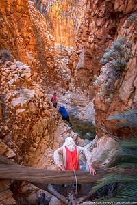 Scrambling in the canyon