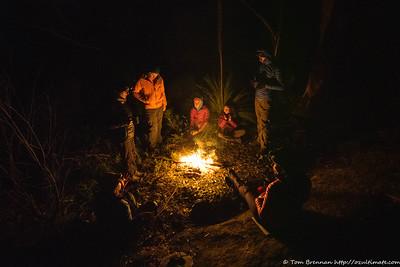Enjoying the fire