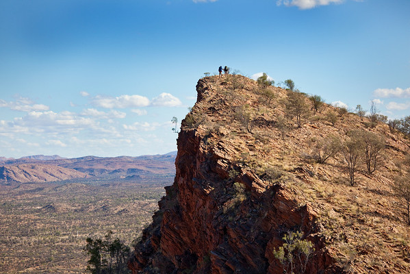 First day out on the Larapinta Trail. The Chewings Range. West MacDonnell Ranges National Park.