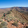 Karen Tempest on the tops. The Larapinta Trail. West MacDonnell Ranges National Park.