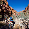 Hugh Gorge. The Larapinta Trail. The Chewings Range. West MacDonnell Ranges National Park.