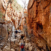Stuart Imer and Michael Hampton in Standley Chasm on the Larapinta Trail. West MacDonnell Ranges National Park.