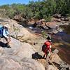 Day three. Walkers arriving at 17 Mile Creek campsite. Jatbula Trail, Nitmiluk National Park, Northern Territory.