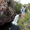 Day One. Swimming at Biddlecombe Cascades, Jatbula Trail, Nitmiluk National Park, Northern Territory.