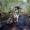 Day one. Karen Tempest at the Northern Rockhole, Jatbula Trail, Nitmiluk National Park, Northern Territory.