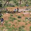 Walkers approaching 17 Mile Falls campsite. Jatbula Trail, Nitmiluk National Park, Northern Territory.