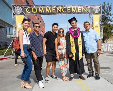 Caption info: College of Business and Economics Commencement Ceremony, Class of 2020. Photos by Jill Connelly