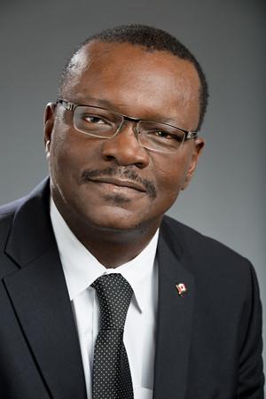 Black business executive headshot portrait
