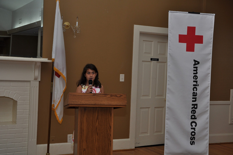 Destiny Sarno reads poem she wrote entitled Heroes Among Us
