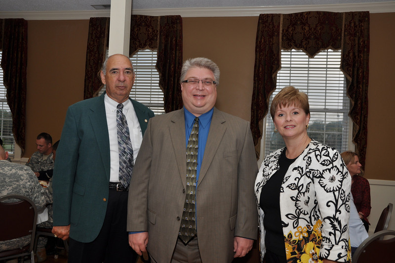 Monroe Mayor Bobby Kilgore, Town Manager Wayne, Vice President Citizens South Bank and Chair Union County Chamber Pat Kahle