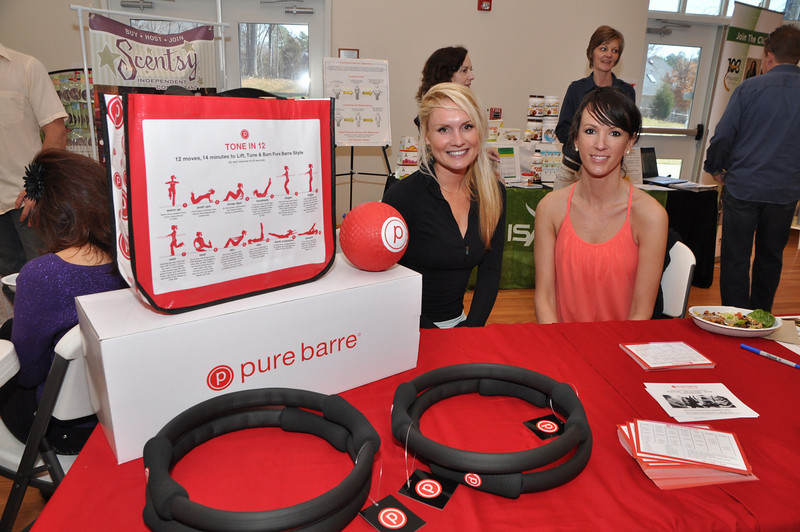Sarah Taylor and Casie Scott of Pure Barre Charlotte