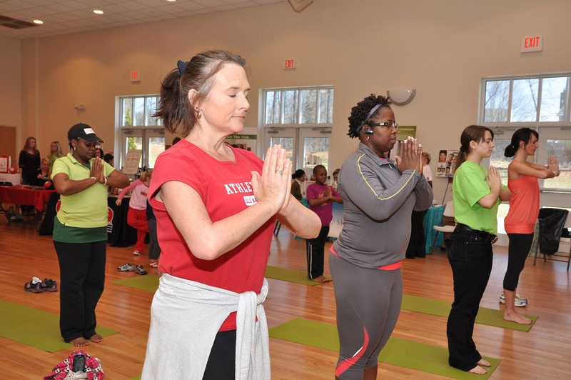 Nancy Hudson of Waxhaw loves her yoga pose