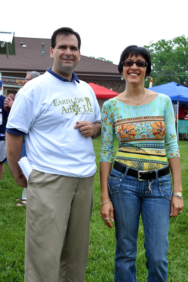Indian Trail Town Manager Joe Fivas and Soprano Virginia Gutierrez
