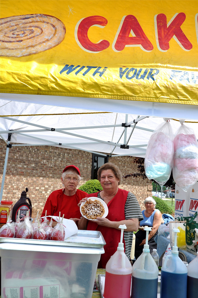 Carolina Fun Food's Marie Robson and Barbara Eaves make their famous funnel cakes