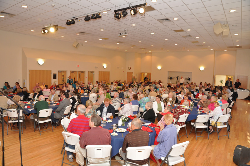 Over 200 people gathered for a great lunch and bursts of laughter celebrating their 4th year of friendship at Levine Senior Center.