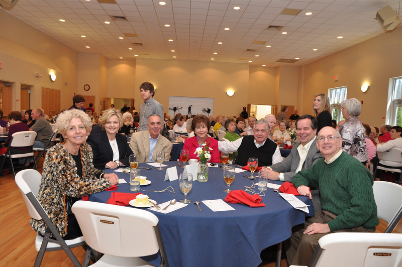 Honored guests: l to r-Jan Burris, Joanne Simmons, Fred Simmons, Sandra Levine, Leon Levine, Dr. Mike Richardson, Larry Polsky