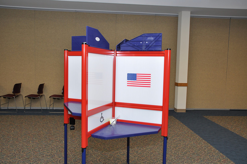 This year launched new voting booth including wheelchair accessible table.