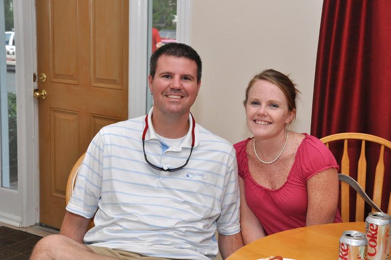 Social/Beautification Committee Member Kira Brice with fiancée Brock