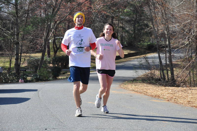Kevin Satink, 17 and Paula Young, 18 first female to finish race!