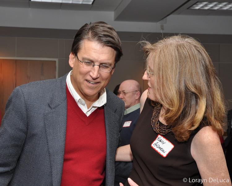 Pat McCrory & Nancy Anderson, Mayor Weddington
